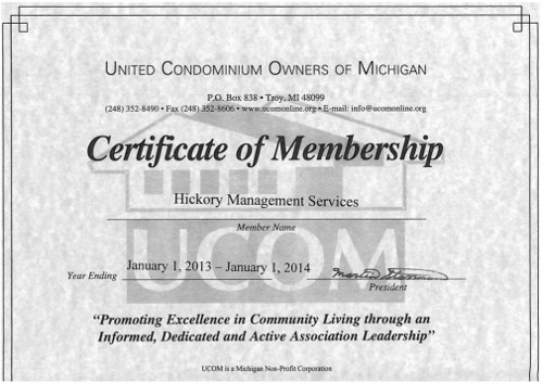 United Condominium Owners of Michigan